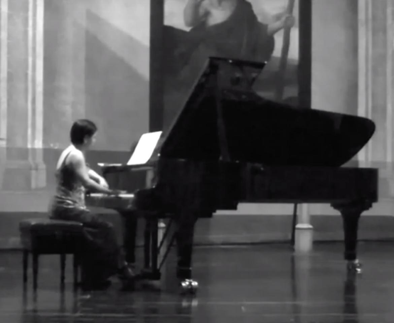 Performance of Brahms Intermezzos and Rhapsodie, in Havana